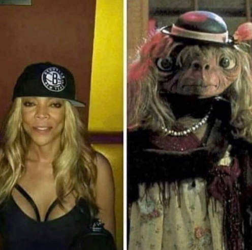 Wendy Williams E.T. Comparison side-by-side by rapper 50 Cent