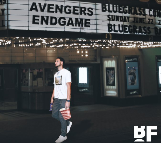 Klay Thompson walks out of Avengers Endgame