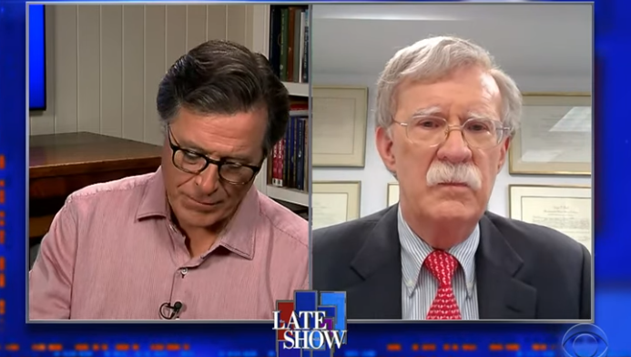 Stephen Colbert interview with John Bolton