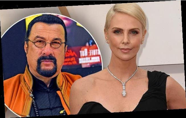 Charlize Theron and Steve Seagal