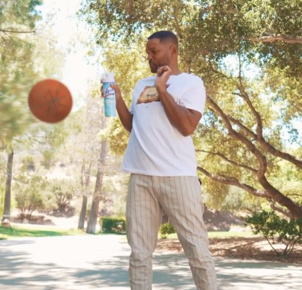 Will Smith Stops Basketball mid air for cleaning